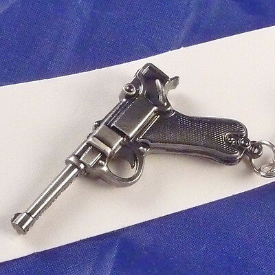 PARABELLUM LUGER Semi-automatic PISTOL German Military Stainless steel Keychain
