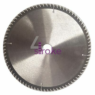 "250mm (10"") 80 Teeth Aluminium Circular Saw Blade 30mm Bore 25mm Rings Mitre"