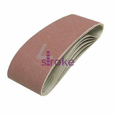 5 x 75mm x 533 mm 120 Grit Fine Sander Sanding Belt Belts 75 533 mm