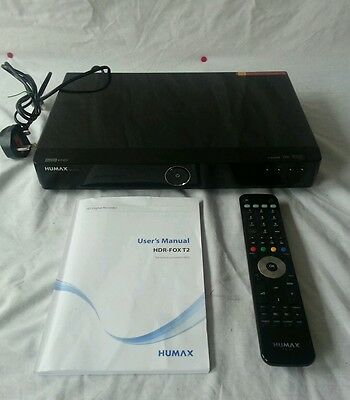 Humax HDR-FOX T2 (500GB) DVR Freeview HD Recorder Twin Tuner