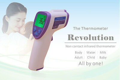 Non Contact Baby Body Forehead IR Infrared Thermometer Digital LCD Temperature