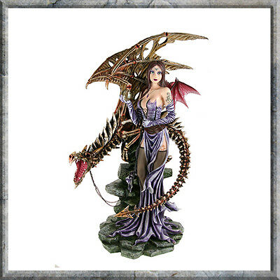 Draconis Large Dragon Chained By Fairy Brand New Nemesis Resin Figurine Boxed