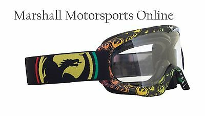 Dragon racing MDX offroad motorcross goggle adults rasta clear