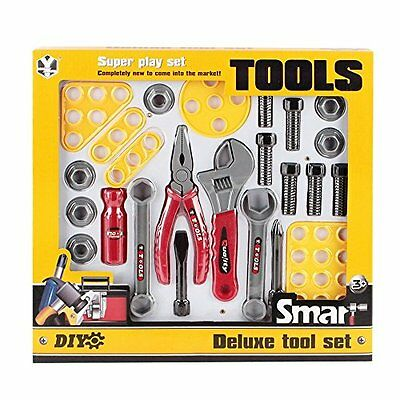 Deluxe Construction Tool Set For Kids With 23 Pieces