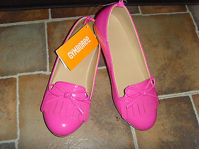 Pink slip on loafers NEW NWT Gymboree size 13 girls back to school shoes bows