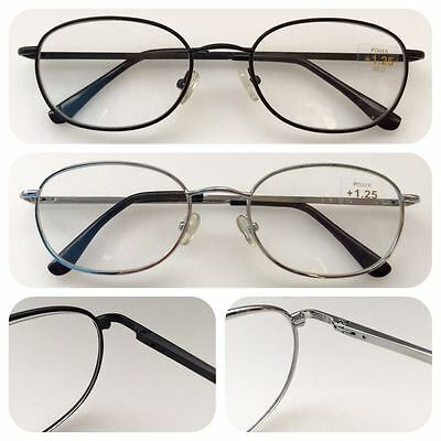 A19 Unisex Metal Frame Reading Glasses/Spring Hinges/Super Value & Classic Style