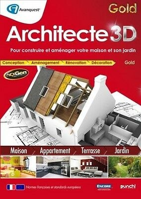 Architecte 3D Version GOLD PC Windows 8,7, Vista, XP NEUF SOUS BLISTER