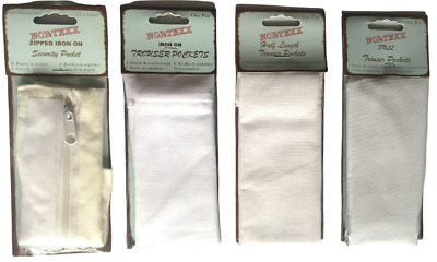 Nortexx 1 Pair Replacement Trouser Pockets - Full Length Half Sew In / Iron On