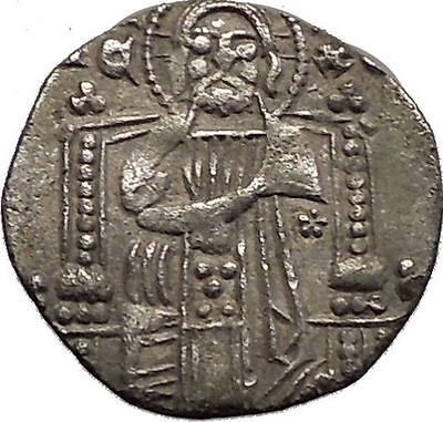 1268AD MEDIEVAL Venice Doge LORENZO TIEPOLO Silver Ancient Coin w CHRIST i57570