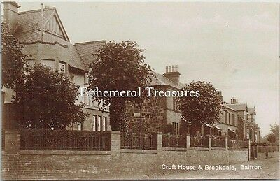 Croft House,  Balfron, Stirlingshire, Scotland  - Superb real photo Postcard