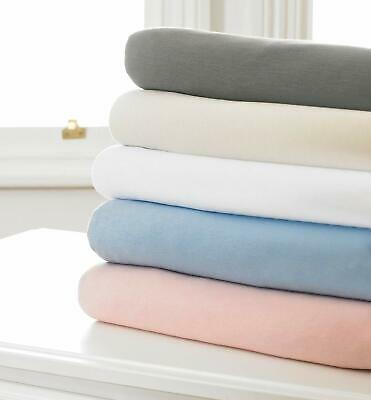 Great Knot-100%  Cotton Jersey Knitted Grey White Extra Deep Fitted Sheet Sizes
