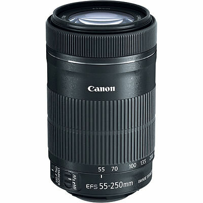 NEW Canon EF-S 55-250mm f/4-5.6 IS STM Autofocus Lens for Canon Cameras