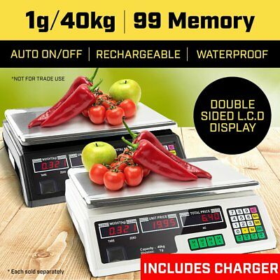40KG Kitchen Scale Digital Commercial Shop Electronic Weight Scales Food Postal