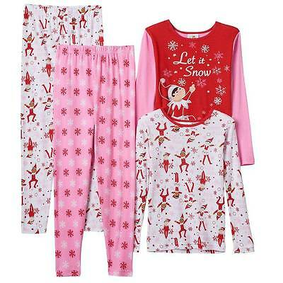 The Elf On The Shelf Pink Pajamas Size 4 6 8 10 12 New!