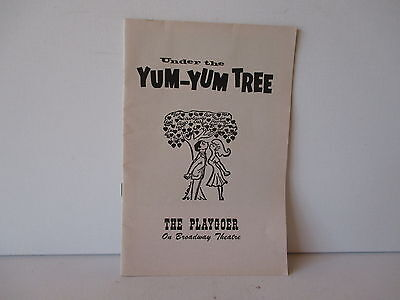 "Vintage 1962 Show Program ""under The Yum-Yum Tree"" - Playgoer - Free Shipping"