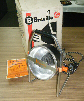 Vintage Boxed Breville Infra Red Heat Lamp
