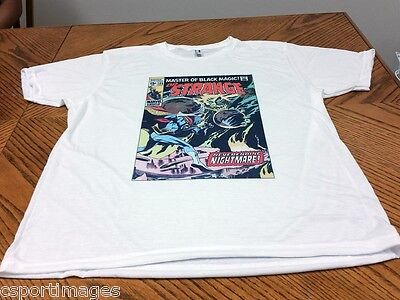 Doctor Strange 185 - Custom Cover on White T-Shirt - Gene Colan Art