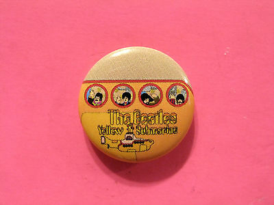 """New Official Beatles Button  Badge Pin Official Uk Made """"yellow Submarine"""""""