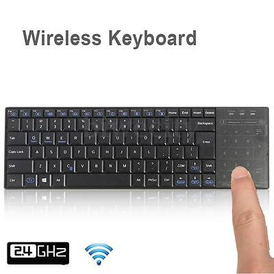 Bluetooth Wireless Mini Keyboard Touchpad For Mac Windows Laptop PC IOS Android