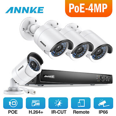 ANNKE Network POE 4CH 6MP NVR 4MP Video Security Camera System Hikvision OEM Kit