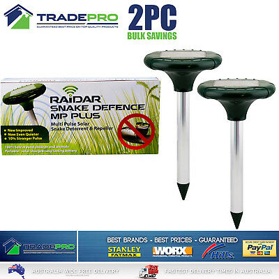 Snake Repeller Genuine Raidar® MPPLUS PRO 2pc Solar MultiPulse Ultrasonic Pest