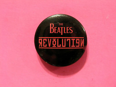 "New Official Beatles Button  Badge Pin Official Uk Made ""revolution"""