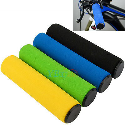 Mountain Bike Bicycle Motorcycle Anti-slip Soft Foam Handle Bar Ends Hand Grips
