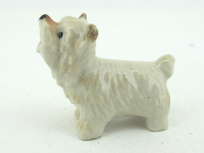 Handpainted Miniatures Collectible Ceramic Yorkshire Dog FIGURINE Animals