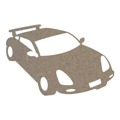 Car 3 MDF Laser Cut Craft Blanks in Various Sizes