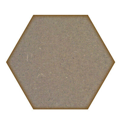 Hexagon MDF Laser Cut Craft Blanks in Various Sizes