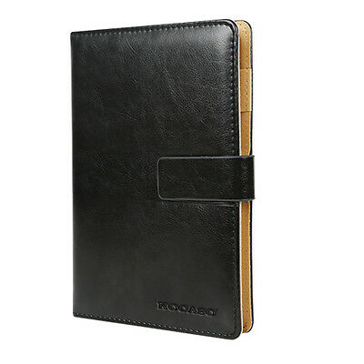 New Leather Blank Journals Memopad Notebook With Calendar World Map Cover-Black