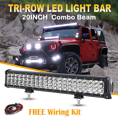 20Inch 450W Philips Led Work Light Bar Drl Flood Covers Spot Offroad Truck Atv