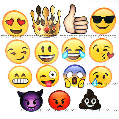 15Pcs Emoji Smiley Hen Party Selfie Photo Props Booth Kit Brithday Games