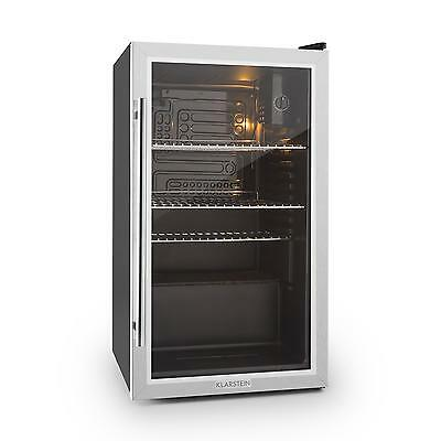 Beersafe XXL Fridge by Klarstein Refrigerator 80L Class A+ Glass Door Stainless