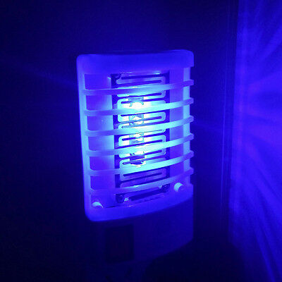EU Plug LED Electric Mosquito Fly Bug Insect Trap Zapper Killer Night Lamp Hot