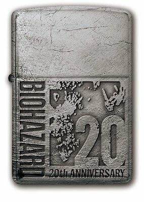 BIOHAZARD 20th Anniversary Zippo Silver  model From Japan NEW Resident Evil