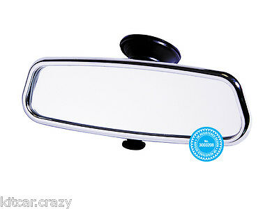 Chrome  Interior Suction Dipping Rear View Mirror By Summit