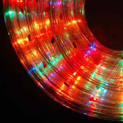 Multicoloure Rope Light Indoor Outdoor Use Christmas Xmas Garden Static Flash HQ