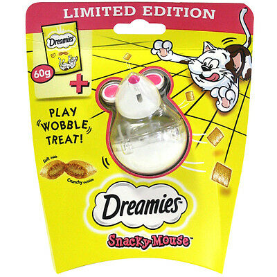 Dreamies Snack Snacky Mouse Cat Kitten Treat Toy Cheese 60g