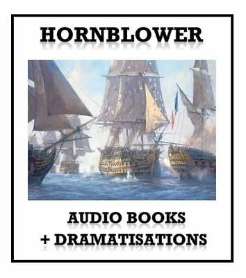 Hornblower Audio Books Complete Collection MP3 DATA DVD 148 Hrs + FREE GIFT!