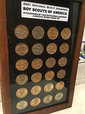 2001 National Scout Jamboree Framed Coin Collection