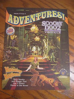 Burger King - Scooby Doo 2- Adventures Leaflet Magazine Vol. 15  Issue 3 - 2004