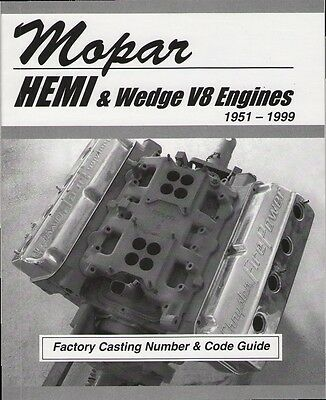 Mopar 360, 340, 318, 273 Small Block Wedge Engine Casting Number & ID Code Book