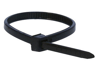 100 Pack 8 Inch Zip Ties Nylon Black 40 Lbs Uv Weather Resistant Wire Cable
