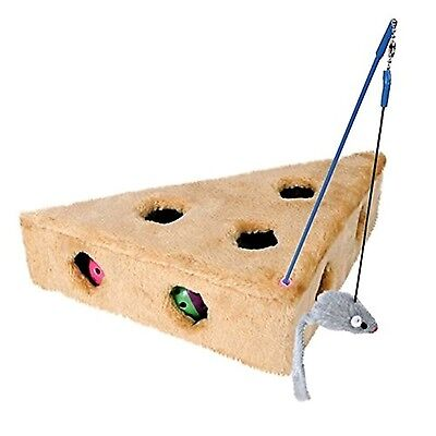 Trixie 4505 Cat's Cheese with Dangling Toy and 3 Play Balls 36 x 8 x 26 cm / ...