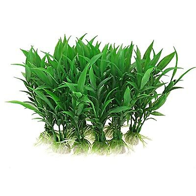 Sourcingmap Plastic Aquarium Water Plants/Aquatic Grass 10 Pieces Green