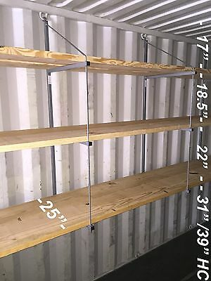 "Shipping / Cargo / Storage Container Shelving - Shelf Brackets - 20"" or 24"" Deep"