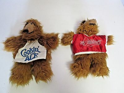 Lot 2 Vintage 1988 ALF Plush Hand Puppet
