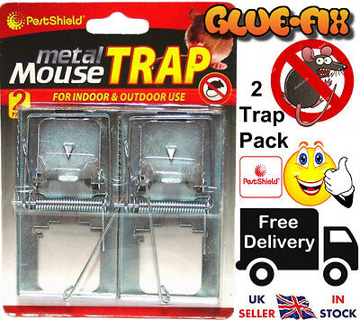 (NEW) Mouse Trap Quick effective Metal Mouse Rodent Professional Strong 2 Pack