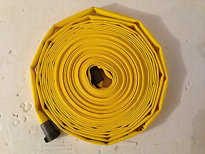 """1""""  Wildland Ultra Forestry Fire Hoses (100' Yellow Aluminum NPSH)"""